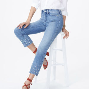 NYDJ | Sheri Slim Ankle Jeans Palm Dot Point Dume